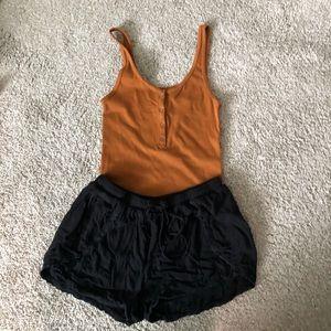 LAce detailed cinch waist shorts